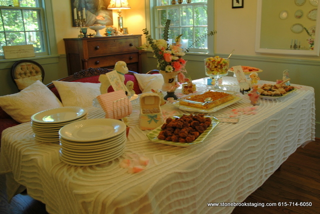 Vintage Baby Shower Tablescape