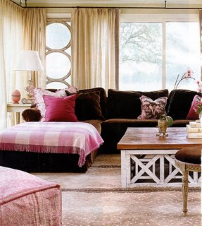 In the pink the decorologist for Brown and pink bedroom ideas