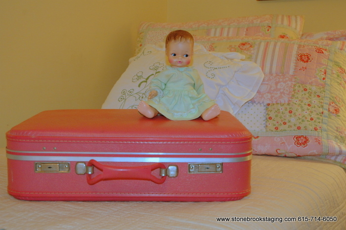 Hot Pink Vintage Luggage