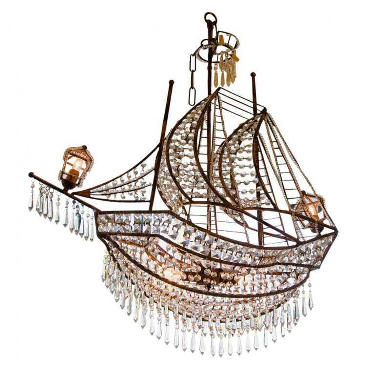 Crystal ship chandelier the decorologist first dibs ship chandelier mozeypictures Images