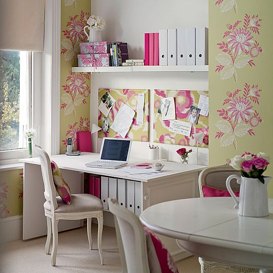 Floral Home Office from ehow