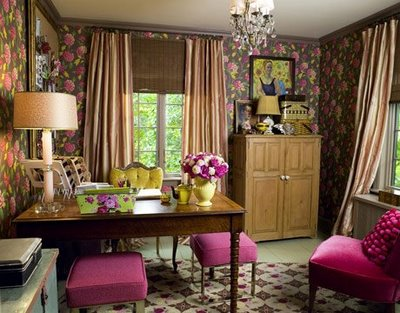 Vintage Feminine Office from Country Living