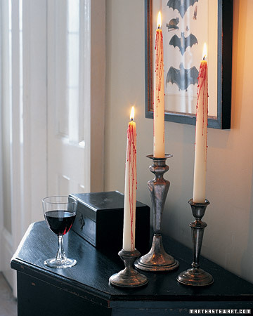 bleeding halloween candles martha stewart