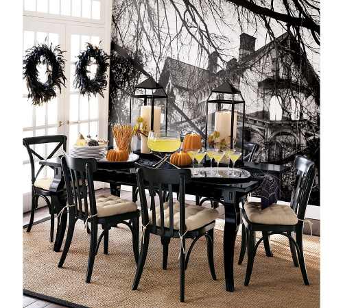 dining room - spooky wall mural