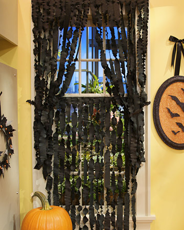 paper mache halloween curtains martha stewart