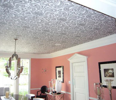 Ceiling Wallpaper via Apartment Therapy - The Decorologist