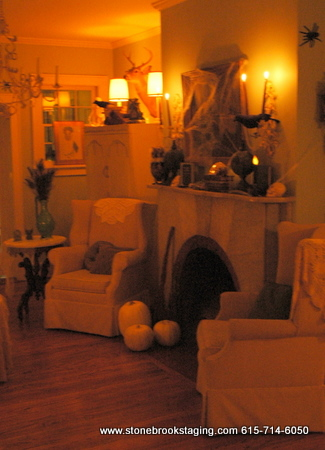 Halloween Living Room by Candlelight