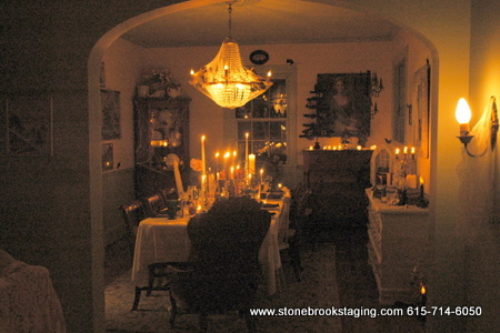 Candle Lit Halloween Dining Room