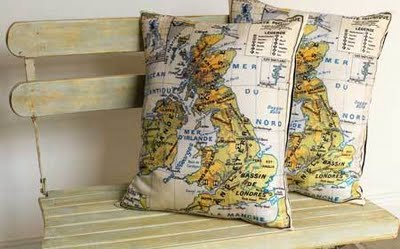 Map Pillows from The Lennoxx