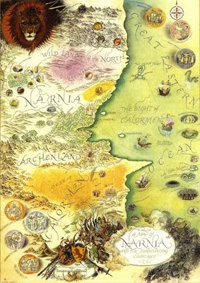 Narnia Map from All About C.S. Lewis