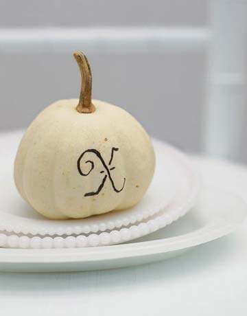 Placecard Pumpkin - country living