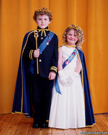 Royal costumes via marthastewart