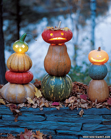 Stacked Pumpkins and Gourds via martha