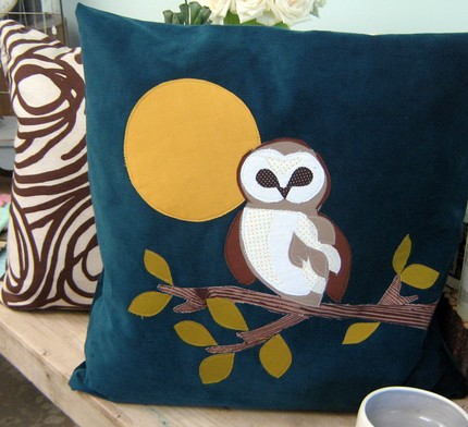 owl pillow from annajoyce's shop on etsy
