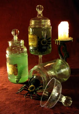 Halloween Specimen Jars The Decorologist