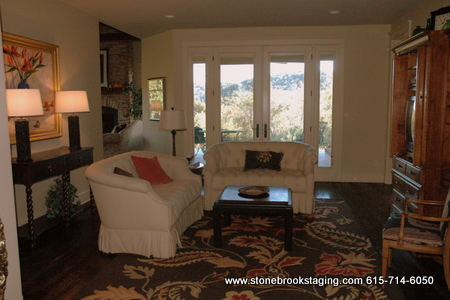 Living Room After by StoneBrook Staging