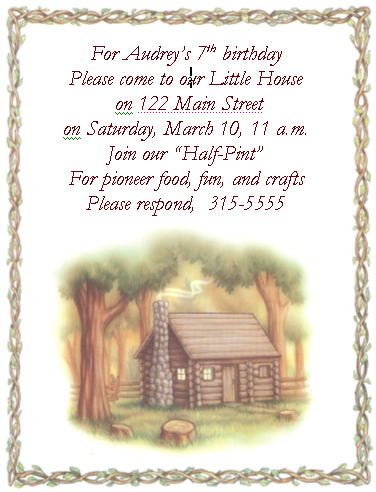 Little House Birthday Invitation