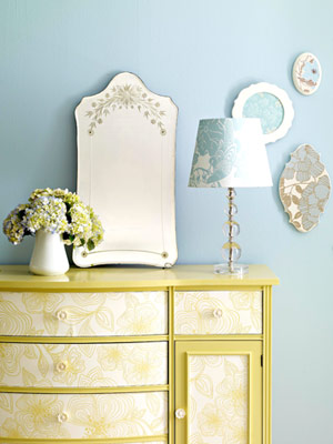 Wallpaper Dresser via BHG