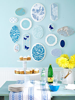 Wallpaper Scrap Art via BHG