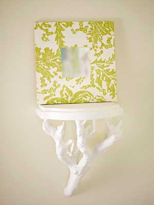 Wallpaper Scrap Frame via BHG