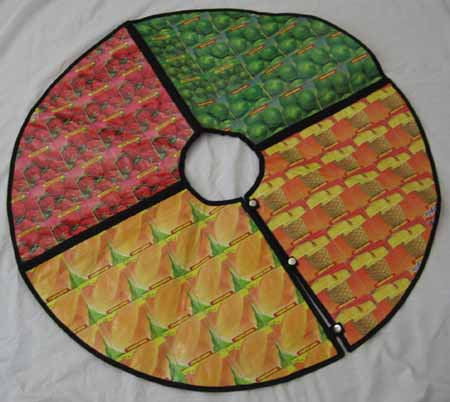 tree skirt from larozaimports.com recycled juice boxes