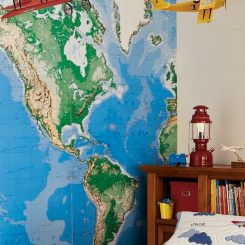 Wall Mural Map