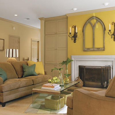 How light affects paint colors the decorologist for Living room yellow color