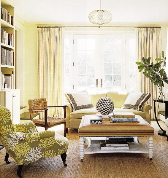 Butter Yellow Living Room Via Decorpad