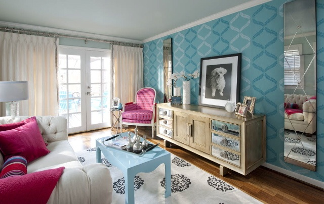 Blue And Pink Living Room Ideas Home Furniture Design