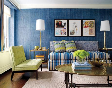 Ordinaire Blue And Green Living Room Jamie Drake