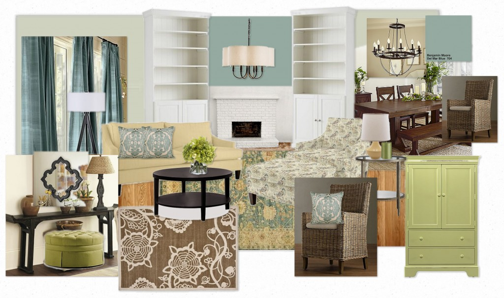 A Virtual Design Inspired By Benjamin Moores Turquoise Mist