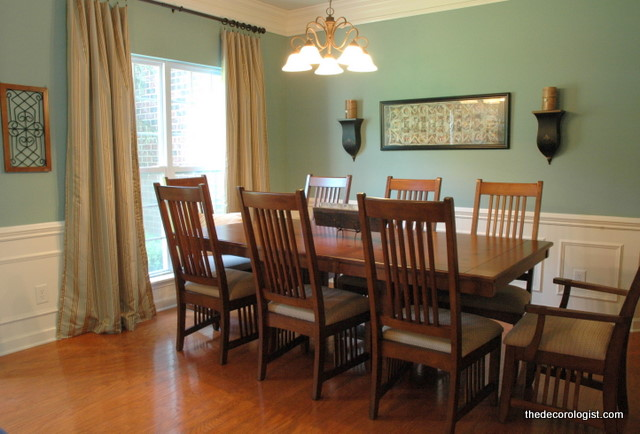 blue dining room after - Dining Room Paint Colors