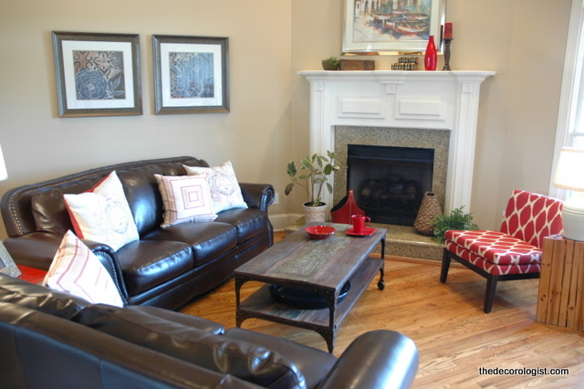 How to arrange furniture in a room with a corner fireplace the decorologist How to arrange a living room with 3 couches