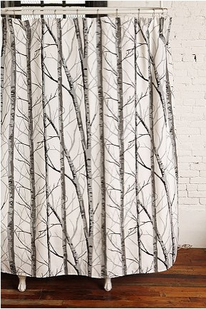 Birch Forest Shower Curtain Urban Outfitters