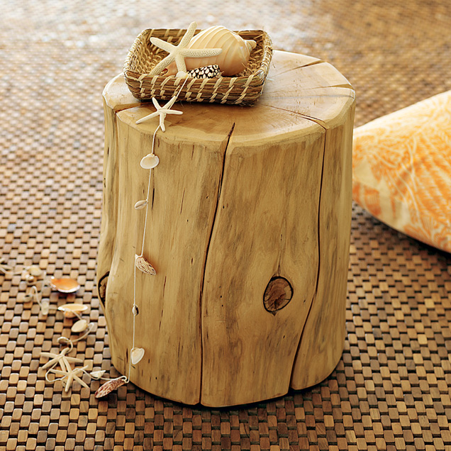 Bon Natural Tree Stump Side Table West Elm
