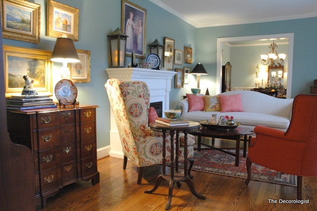 nashville interior decorator, blue living room
