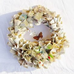Paper Wreaths & Other Crafty Christmas Desires