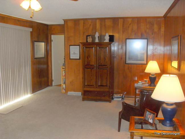 Paint your paneling change your life the decorologist Wood paneling transformation