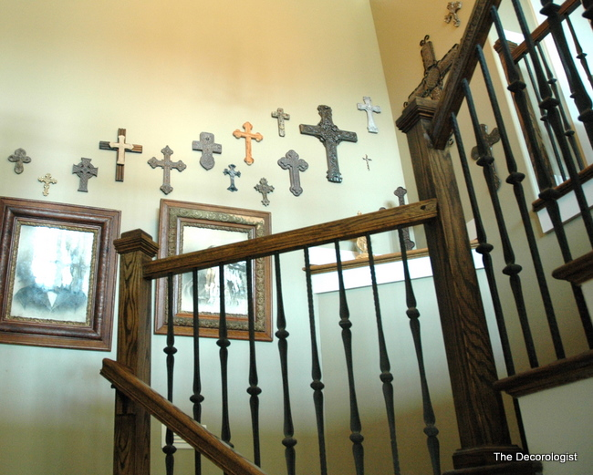 crosses in stairwell