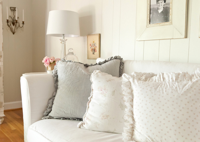 ruffled pillows