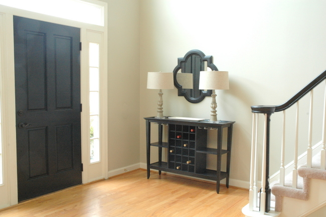 black interior door
