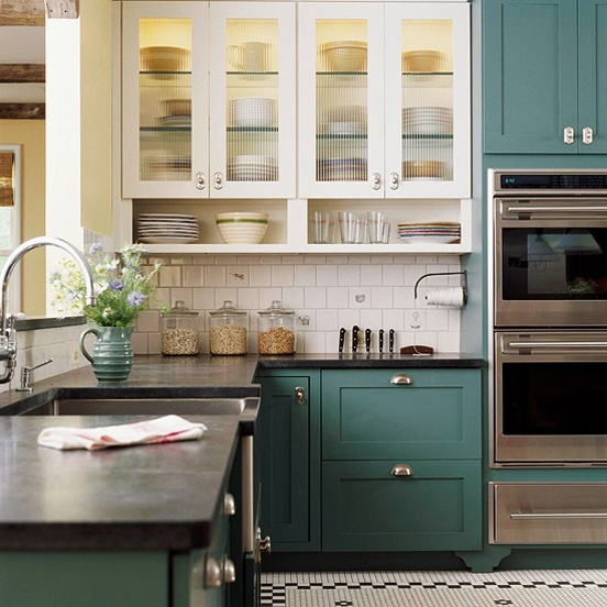 painted kitchen cabinets - Upper Kitchen Cabinets