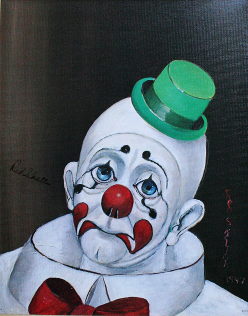 Sad Face Clown