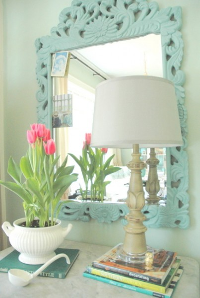 painted mirror chalk paint