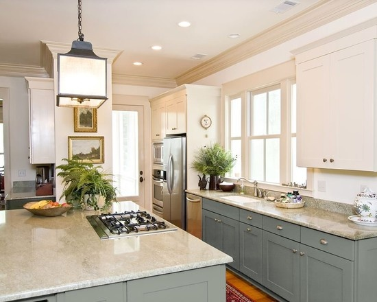 Two Color Kitchen Cabinets | Can You Paint Kitchen Cabinets Two Colors In A Small Kitchen The