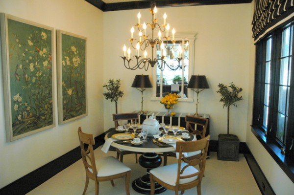 designer breakfast room