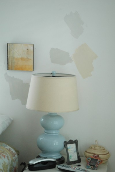 paint samples on wall
