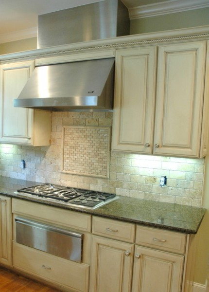 tumbled stone backsplash