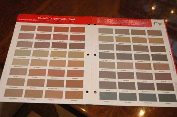 concrete stain colors