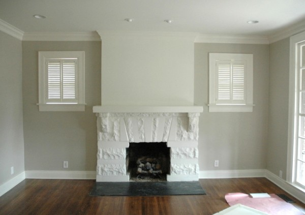 Chimney Breast Different Paint Colors